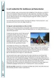 Is och issäkerhet för skolklasser på Naturskolan