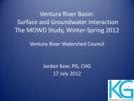 Surface & Groundwater Interaction Study, Kear 7-17-12