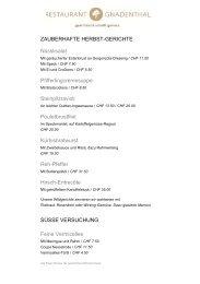 Speisekarte als PDF - Restaurant Gnadenthal