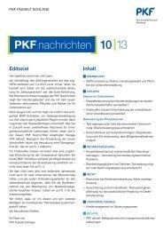 Editorial Inhalt - PKF Fasselt Schlage