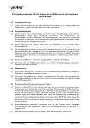 Vertragsbedingungen für die Integration und Betreuung von ... - Vector