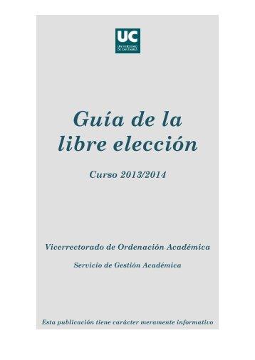 Guía de la libre elección - Universidad de Cantabria