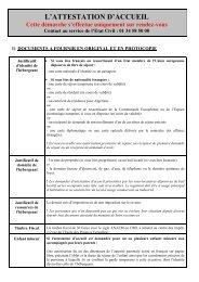DEMANDE DE VALIDATION D'ATTESTATION D'ACCUEIL