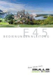 Bedienungsanleitung E45 - BULLS Green Mover