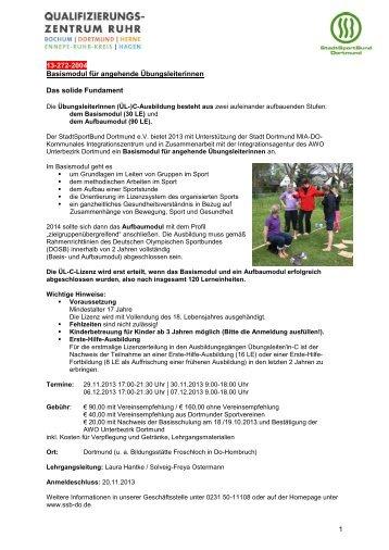 ÜbungsleiterInnen C-Lizenz Ausbildung (120 LE) - StadtSportBund ...