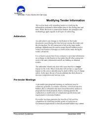 Modifying Tender Information