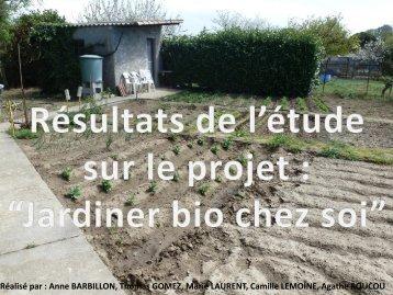 Résultats de l'étude - EPL Carcassonne