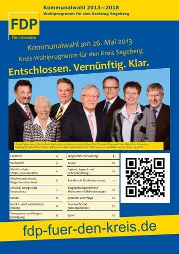 Kommunalwahl 2013—2018 - FDP Kreisverband Segeberg