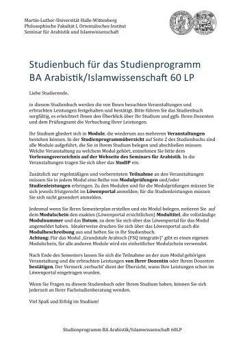 Studienbuch!für!das!Studienprogramm! BA!Arabis;k ...