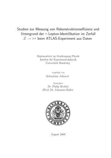 Studien zur Messung von Rekonstruktionseffizienz und Untergrund ...