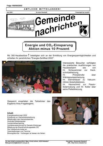 Energie und CO2-Einsparung Aktion minus 10 Prozent - Katsdorf