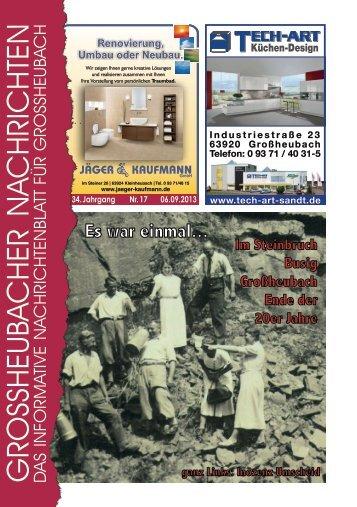 Großheubacher Nachrichten Ausgabe 17-2013 - STOPTEG Print ...