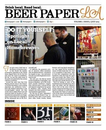 Beer Paper LA - Pipe Dream Brewery