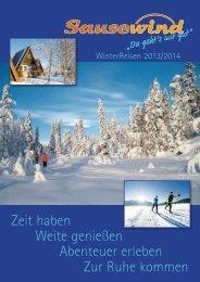 Winterkatalog 2013/14 (PDF, ca. 20 MB) - Sausewind Reisen