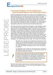 PDF Ratgeber Angst vor Krankheiten - Expertenrat Psychologie