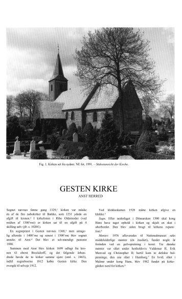 GESTEN KIRKE - Danmarks Kirker - Nationalmuseet