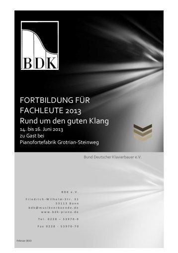 Rund um den guten Klang - Bund Deutscher Klavierbauer e.V.