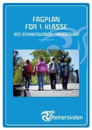 Fagplan - Steinerskolen i Haugesund - Steinerskoleforbundet