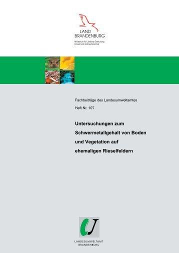Nr. 107 - Landesamt für Umwelt, Gesundheit und Verbraucherschutz ...