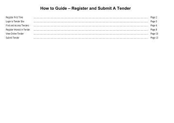how to submit tender document