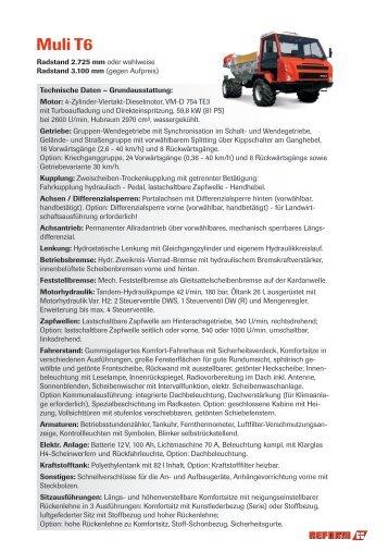 Technische Daten (PDF) - Reform