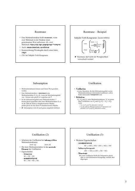 Grammatiktheorien Inhalt der Vorlesung Sprachtheorie ...