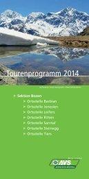 Tourenprogramm 2014 - Alpenverein Südtirol