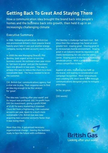 British Gas.pdf - The Marketing Society