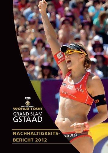 Nachhaltigkeitsbericht 2012 - 1to1 Energy Beach Volley Open Gstaad