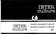 International Cooperation and Cultures - Institut Interculturel de ...