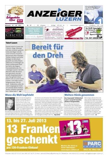 Anzeiger Luzern, Ausgabe 27, 10. Juli 2013