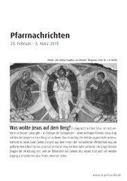 Pfarrnachrichten vom 23. Februar bis 3. März 2013 - St. Petronilla