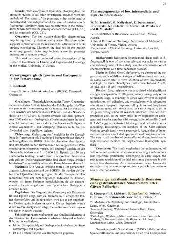 Fallbericht: Stroma Tumor unter Glivec