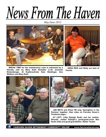 to read the latest issue. - Fairview Haven
