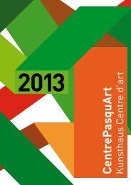 Programmheft 2013 (pdf, inkl. Kunsthaus) - PhotoforumPasquArt