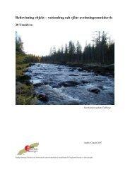 Redovisning objekt – vattendrag och sjöar ... - Lycksele kommun