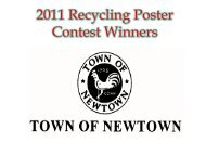 2011 Recycling Poster Contest Winners - Newtown, CT