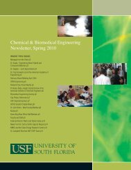 2010 - Chemical & Biomedical Engineering - University of South ...