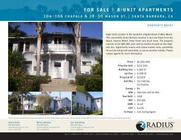 for sale 8-unit apartments