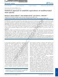 Statistical approach to establish equivalence of unabbreviated mass ...