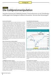 Die Goldpreismanipulation - Smart Investor