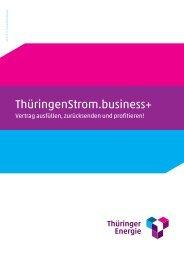 Vertrag ThüringenStrom.business+ (PDF, 788 KB) - Thüringer Energie