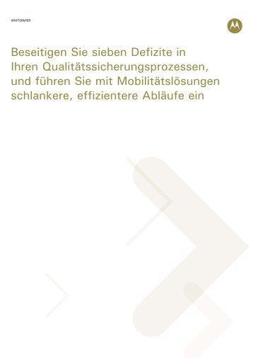 Mobilität in der Qualitätssicherung - Motorola Solutions