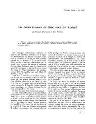 Les failles inverses du flanc nord du Rochail - Revue de géologie ...