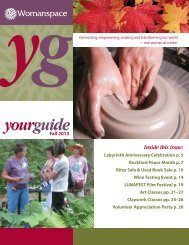 Fall Your Guide - This Is Womanspace!