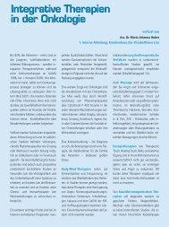 Integrative Therapien in der Onkologie - FAM