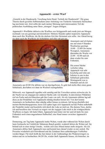 """""""Genetik in der Hundezucht, Vererbung beim Hund, Technik der ..."""