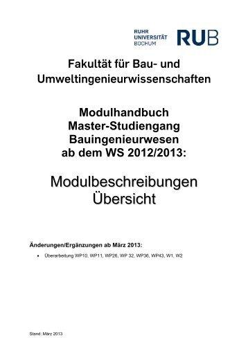 Modulbeschreibungen Übersicht - Fakultät für Bau- und ...