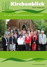 Kirchenblick Nr. 59 - Herbst 2013 - Kirchengemeinde Schönwalde