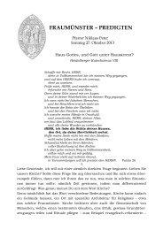 N. Peter - Psalm 26 - Gott unter Hausarrest ... - Fraumünster